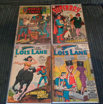 Dc Comics: Silver Age Lot 4 Superman Family Titles With Great Covers Lower Grade
