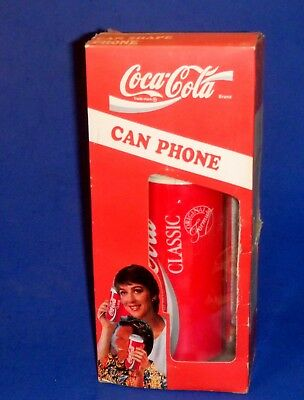 Coca-Cola Can Phone Touchtone Telephone model AW-5011 in orig. box fm 1994