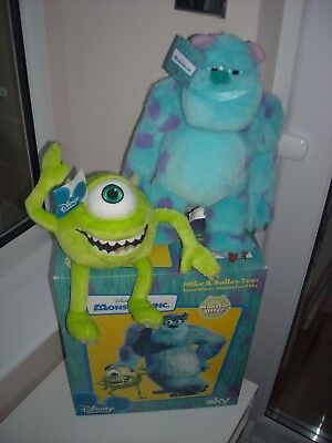 Authetic Disney Channel & Sky Monsters Inc  Mike & Sulley Toys Brand New Boxed