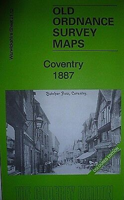 Old Ordnance Survey Maps Coventry  Warwickshire  1887  Sheet 21.12 New Map