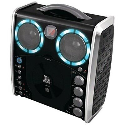 Portable Karaoke Player and 3 CDGs Party Pack - Black Singing Machine With Disco