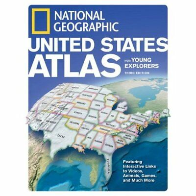 National Geographic United States Atlas for Young Explo - Hardcover NEW Lamichha