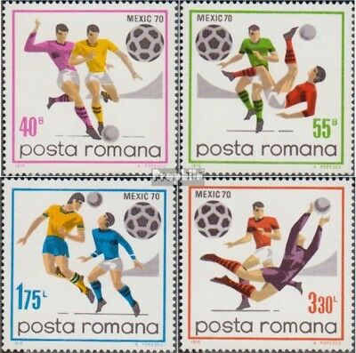 Romania 2842-2845 (complete issue) unmounted mint / never hinged 1970 Football-W