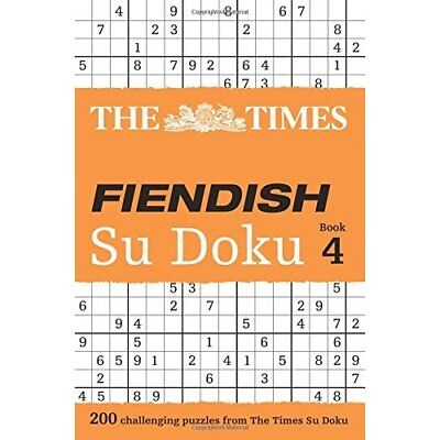 The Times Fiendish Su Doku Book 4 - Paperback NEW Puzzler Media 2011-02-03