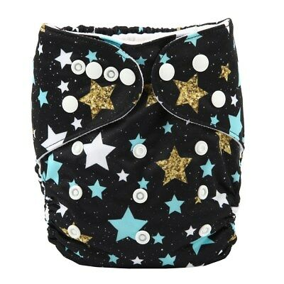 2017 new Baby Pocket Cloth Diaper Nappy Reusable Washable Stars