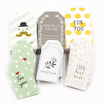 50pcs Paper Tags With String DIY Craft Label Luggage Wedding Party Favor Decor