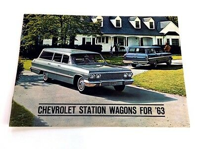 1963 Chevrolet Station Wagon Car Sales Brochure Catalog  Impala Bel Air Chevy II