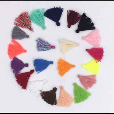 100X Variety colors Cotton Thread Tassel Charm Pendant Tassels Jewelry 3cm
