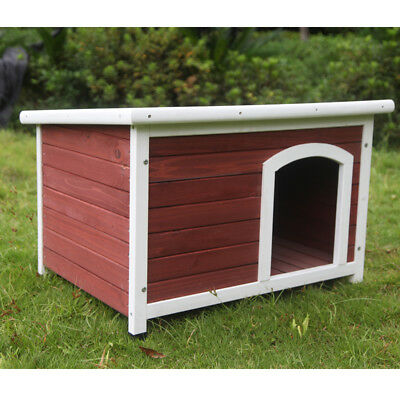Large Wooden Pet Dog Kennel Timber House Cabin Wood Log Box Home