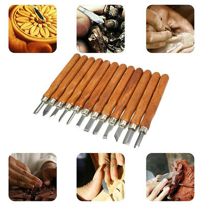 Durable DIY Woodcut Knife Set Wood Carving Tools Woodworking Hobby Arts Crafts