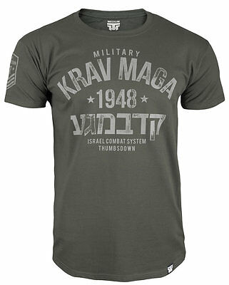 "T-Shirt Mma Krav Maga ""military Israel Combat System"" Training Casual Wears"