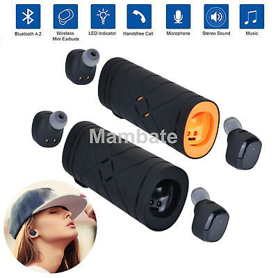Mini TWS Wireless Bluetooth Stereo Headset In-Ear Earphones Earbuds Headset US