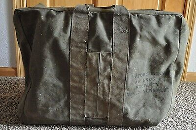 Vintage WW2 USAAF AVIATOR'S KIT BAG -AN 6505-1 OD GREEN