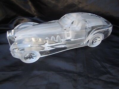 Sculpture cristal Daum France Coupe Riviera Crystal cars Xavier Froissart