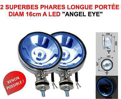 Angel Eye Led 2 Super Phares Chrome 4X4 Land Cruiser Pajero L200 Patrol Jeep Hdj