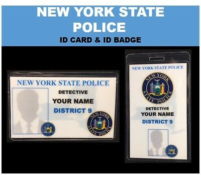 """NEW YORK'S  finest""  STATE POLICE ID card & ID badge"
