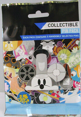Disney Pin Mystery Pack STEAMBOAT MICKEY HATS  SEALED Set of 5