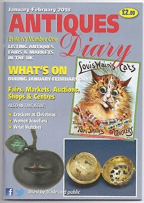Antiques Diary AD UK Jan Feb 2018 fairs shows auctions centres event list dates