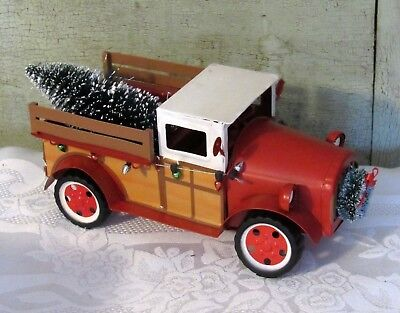 red metal farm truck w tree wondershop christmas decor 9 new
