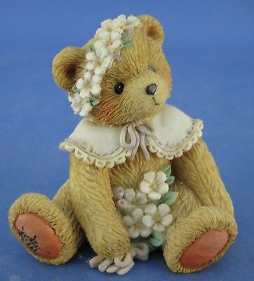 Cherished Teddies May Bear Figurine Friendship Is In Bloom Flower Bouquet 1993
