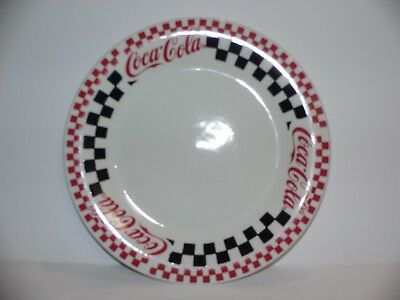 """8 Each (LOT)  Coke Plate Gibson Checkerboard Pattern china 8"""" plate Very Nice."""