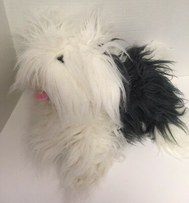 "Peeko SHEEP DOG Puppet 15"" Plush Dog Full-Body UK Design Stuffed Animal Toy"