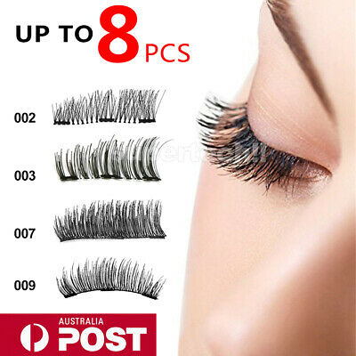 3D Triple Magnetic Eyelashes 3D Handmade Reusable False Magnet Eye Lashes