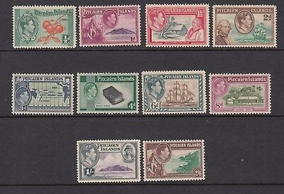 PITCAIRN ISLANDS 1946 KGVI defin. set of 10 stamps.Mint. Scarce and going cheap