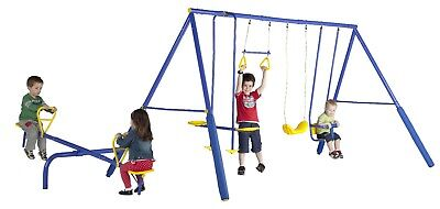 Action 4 Unit Swing Set with Seesaw