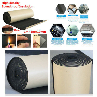 Flat Panel Studio Soundproofing insulation Foam Car Sound Control Mat 1m*1m*10mm