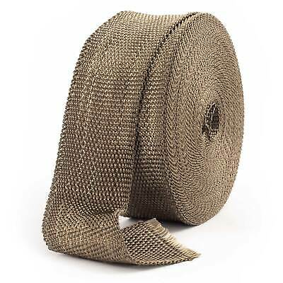 2.5cm x 4.5M Titanium Exhaust Manifold Turbo Heat Wrap Tape Roll /& 10 Cable Ties