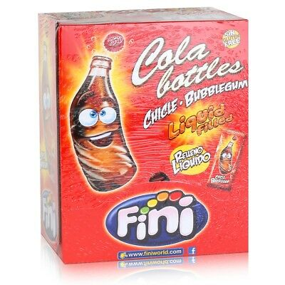 Tri Fini Cola Bottles Bubblegum Kaugummis 200 Stück in der Box (1er Pack)