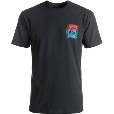 Quiksilver Walled Up Mens T-shirt - Black All Sizes
