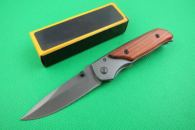 Cute Wood Tactical Folding Pocket Knife Outdoor Portable Fishing Camping Gift