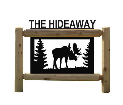 Personalized Moose Sign - Clingermans Outdoor Signs
