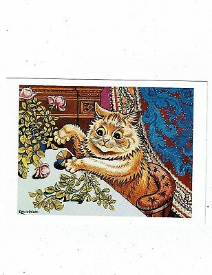 Post Cards Cats Art Card By Louis Wain Titled Playtime A Modern Repro