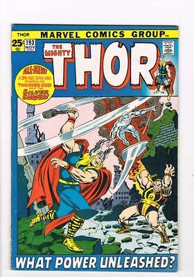 Thor # 193  What Power Unleashed ?  Silver Surfer  grade 8.0 scarce book !!