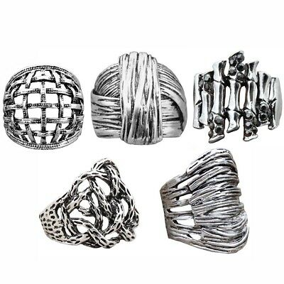 10pcs Mixed Lot Wholesale Plant Root Ring Antique Silver Plated Fashion Jewelry