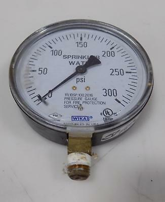 Wika 0-300 Psi Pressure Gauge For Fire Protection Service 111.10Sp.100.2016