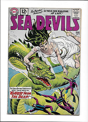 "Sea Devils  #3  [1962 Fn+]  ""ghost From The Deep!"""