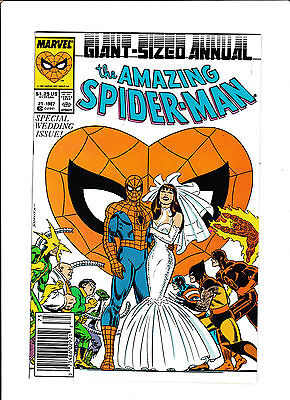 Amazing Spider-Man Annual #21  [1987 Vf-Nm]  Giant-Sized Special Wedding Issue!