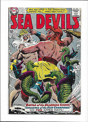 "Sea Devils  #14  [1963 Vg-]  ""battle Of The Undersea Giants!"" Russ Heath Cover!"
