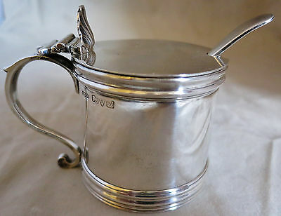 Stokes and Ireland Chester Sterling Silver Mustard Pot (112g), Viner Spoon (11g)