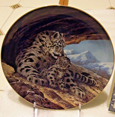 Snow Leopard Plate--Last of their Kind--2nd issue-W.Nelson/WLGeorge/USA