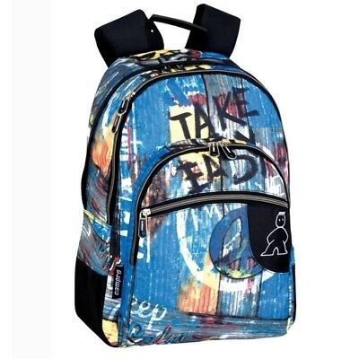 zaino multicolor cmp take it  easy 4 tasche
