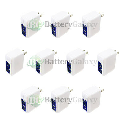 10 Fast 4 Port Wall Charger 3.1A for Samsung Galaxy Active Edge Plus S4 S5 S6 S7