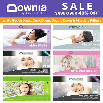 Downia White Goose Down, Duck Down, Double Down, Microbre Pillows Collection NEW