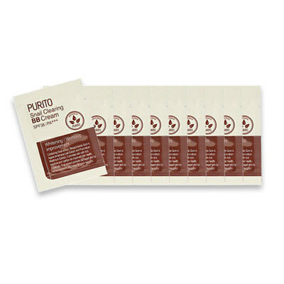 [PURITO] Snail Clearing BB Cream 3 Color 1g * 10pcs [Sample] - BEST Korea Cosmet