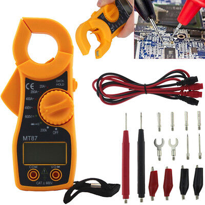 Universal Practical Digital Multimeter + Test Lead Probe Wire Pen Cable 16pcs