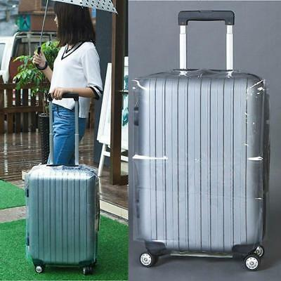 """Clear PVC Transparent Travel Outdoor Luggage Protector Suitcase Covers 20-30"""" S"""